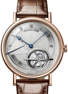 Breguet Grandes Complications Tourbillon Extraflach in der Version 5377BR-12-9WU