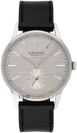NOMOS Glashuette Tangente neomatik 39 silvercut in der Version 342 mit Saphirglasboden