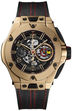 Hublot Big Bang Ferrari Unico Magic Gold 45mm Automatic Chronograph Limited Edition in der Version 402-MX-0138-WR aus poliertem rauchfarbenem Saphirglas