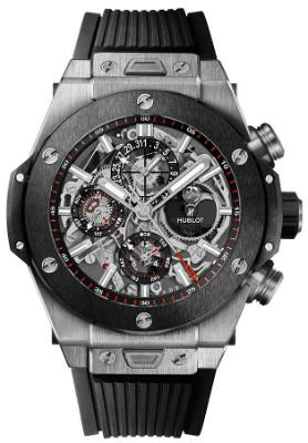 Hublot Big Bang Unico Perpetual Calendar Titanium Ceramic 45mm Automatic Chronograph in der Version 406-NM-0170-RX