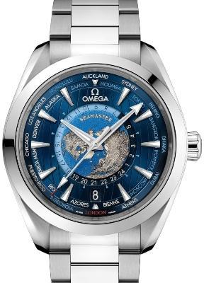 Omega Aqua Terra 150M Co-Axial Master Chronometer GMT Worldtimer 43 mm in der Version 220-10-43-22-03-001