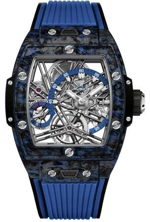 Hublot Spirit of Big Bang Tourbillon Carbon Blue 42 mm in der Version 645-QL-7117-RX
