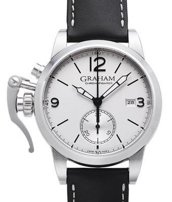 Graham Chronofighter 1695 Steel uhr-krone-links