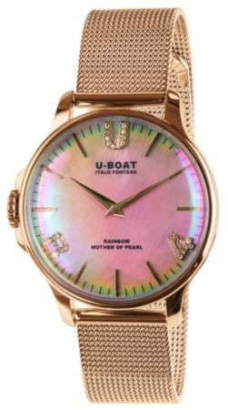 U-Boat Rainbow 38 Pink IP Gold BRACELET