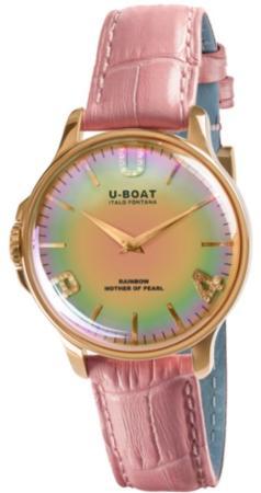 U-Boat Rainbow 38 Pink IP Gold