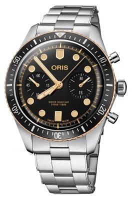 Oris Divers Sixty-Five Chronograph in der Version 01 771 7744 4354-07 8 21 18 uhren-der-60er-jahre