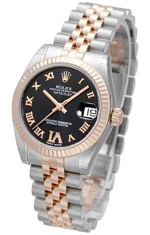Rolex Datejust 31 Damenuhr Edelstahl 18kt Rosegold