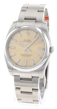 Rolex Oyster Perpetual 34 in der Version 114200 champagner