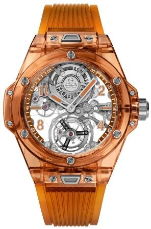 Hublot Big Bang Tourbillon Automatic Orange Sapphire 45mm digitale-uhrenmesse
