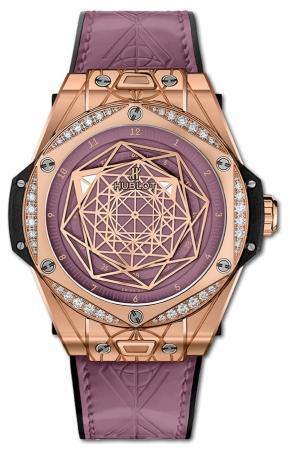 Hublot Big Bang One Click Sang Bleu King Gold Pink Diamonds 39 mm