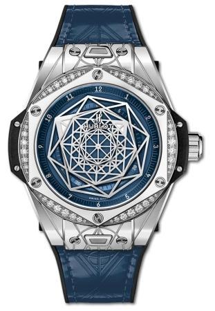 Hublot Big Bang One Click Sang Bleu Steel Blue Diamonds 39 mm