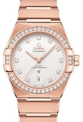 Omega Constellation Co-Axial Master Chronometer 39 mm in der Version 131-55-39-20-52-001 in 18 K Rosegold mit Diamantbesatz