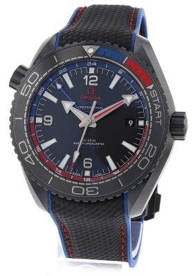 Omega Seamaster Planet Ocean 600 M Co-Axial Master Chronometer GMT 45,5mm ETNZ Deep Black certified pre-owned