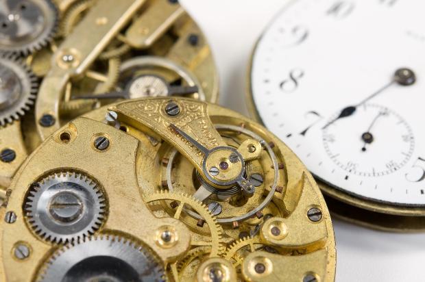 Armbanduhr Nahaufnahme Technik
