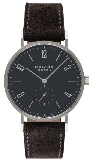 NOMOS Glashuette Tangente 38 nachtblau in der Version 166 mit Stahlboden