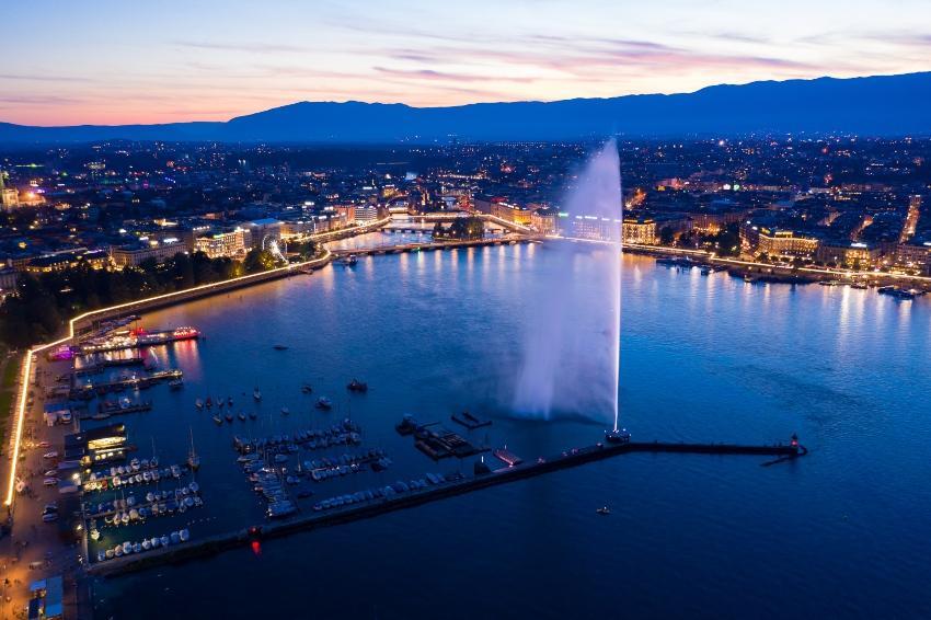 Genf, Luftaufnahme