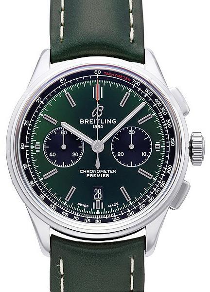 Breitling Premier B01 Chronograph 42 Bentley mit grünem Zifferblatt