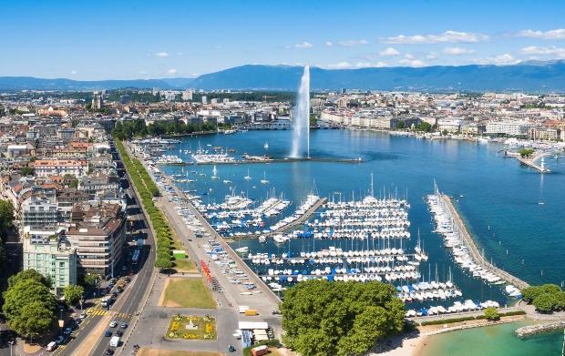 Hafen von Genf, wo die Watches & Wonders 2022 stattfinden wird