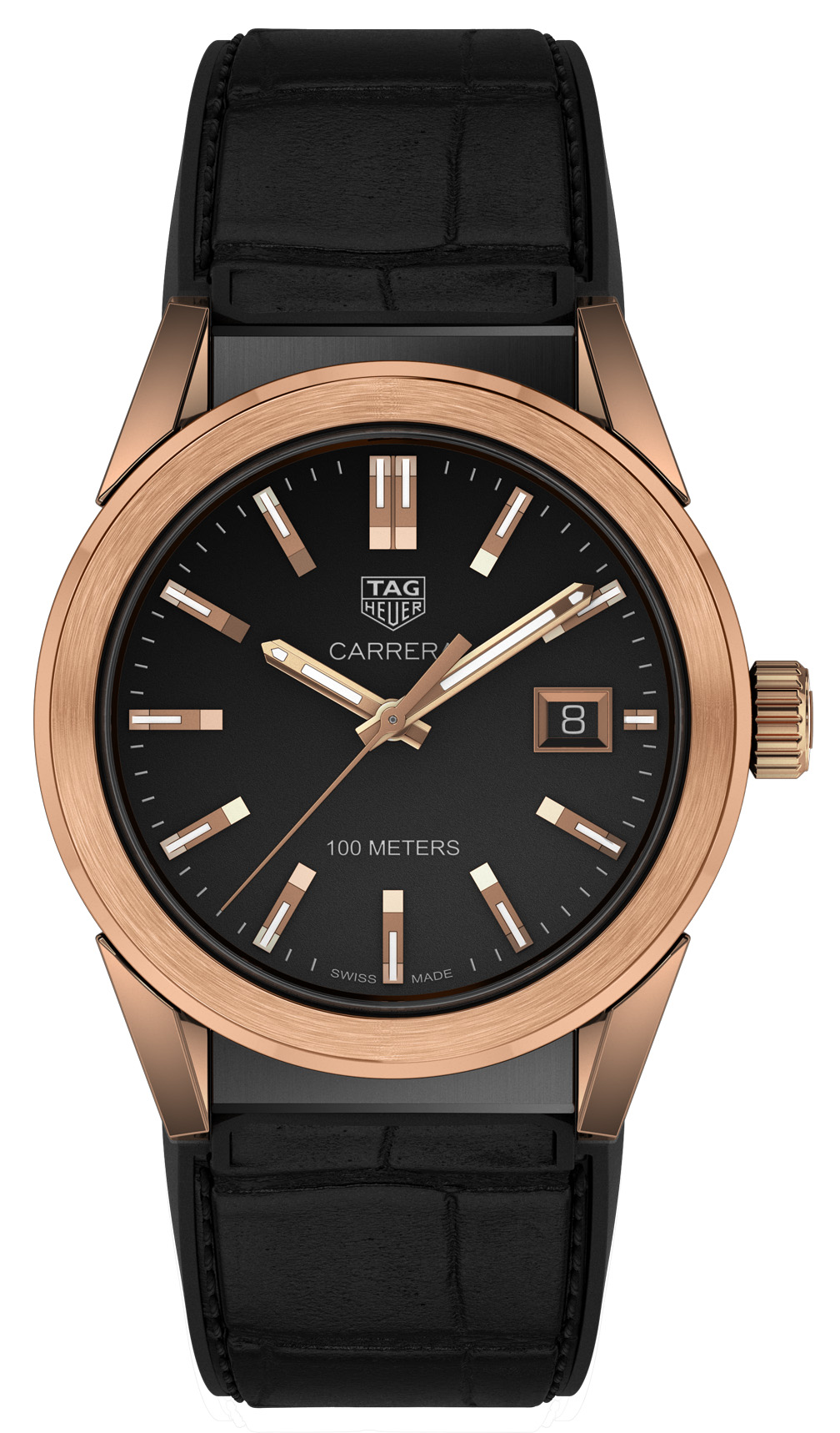 spacex tag watch rose gold - HD